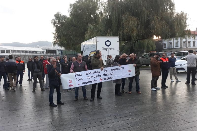 La actitud represora del Sr. Veiga no cesa en la segunda jornada de protestas en la Autoridad Portuaria de Vigo